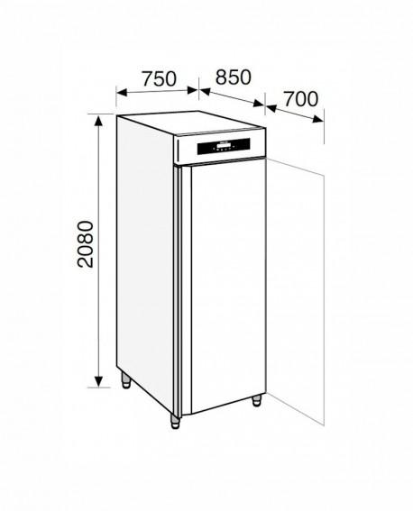 Armadio frigorifero Stagionatore 700 INOX Carni e Formaggi - STG ALL 700 INOX CF LCD - Refrigerazione - Everlasting