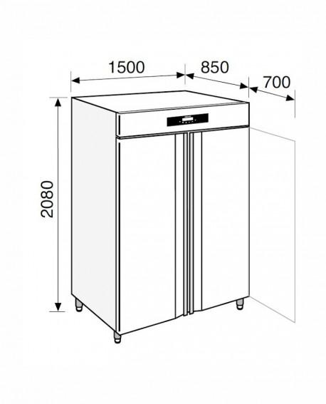Armadio frigorifero Stagionatore 1500 INOX Salumi - STG ALL 1500 INOX S LCD - Refrigerazione - Everlasting