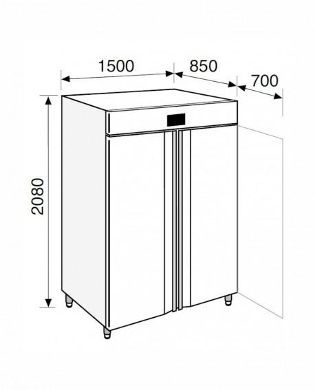 Armadio frigorifero Stagionatore 1500 INOX Salumi - STG ALL 1500 INOX S ADV - Refrigerazione - Everlasting