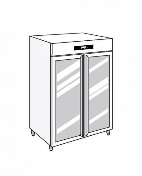 Armadio frigorifero Stagionatore 1500 GLASS CARNE - STG MEAT 1500 GLASS - Refrigerazione - Everlasting