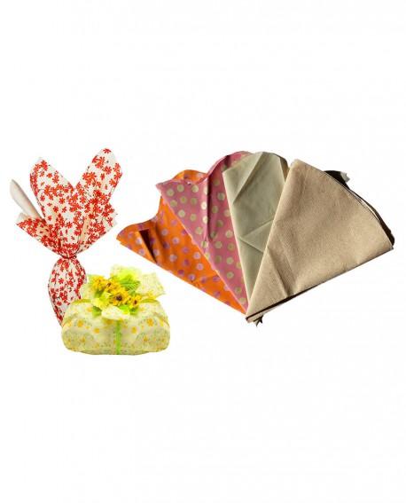 Tondo pois D. 100 - n.10 pezzi - Colori: arancione/rosa- Cesteria M.B. Service