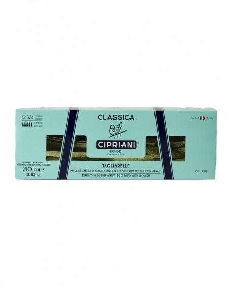 Tagliarelle Cipriani di semola di grano duro all'uovo con spinaci extra sottile - Classica 250g - Cipriani Food
