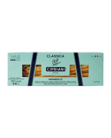 Pappardelle Cipriani di semola di grano duro all'uovo extra sottile - Classica 250g - Cipriani Food