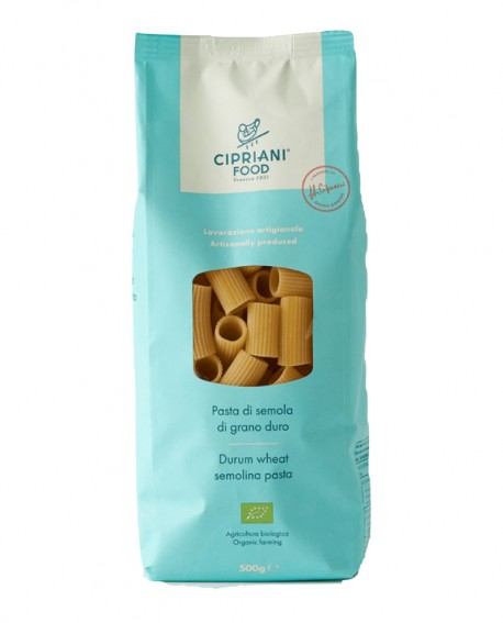 Rigatoni Cipriani di semola di grano duro biologica - 500g - lavorazione artigianale - Cipriani Food